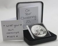 Silver Bullion Coins Animals Christening gift in capsule Black Display case 1oz